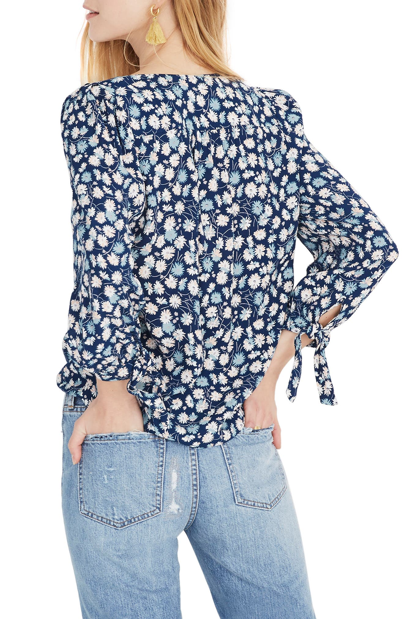 ,                             Tie Sleeve Button Down Top,                             Alternate thumbnail 2, color,                             400
