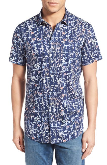 Image of RODD AND GUNN Aintree Floral Short Sleeve Sports Fit Shirt