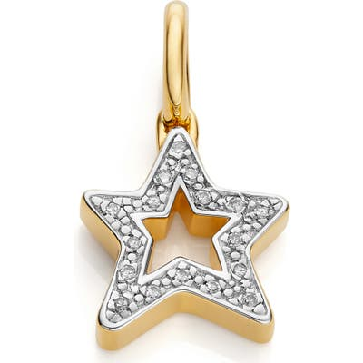 Monica Vinader Alphabet Star Diamond Pendant Charm