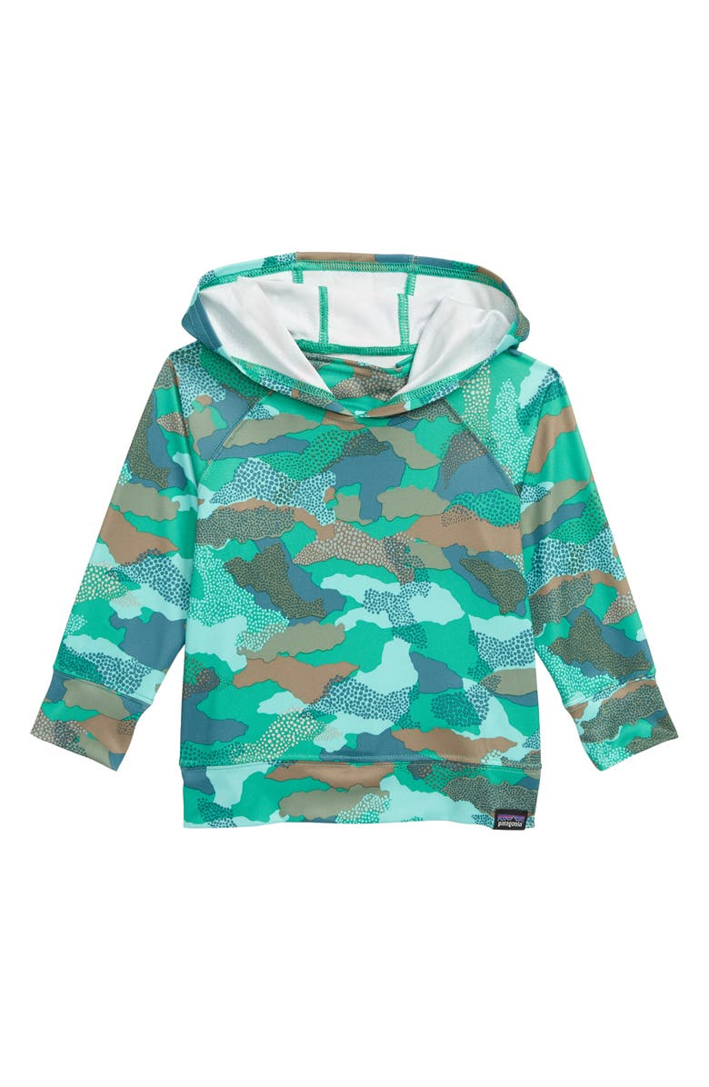 PATAGONIA Capilene<sup>®</sup> Silkweight Sun Hoodie, Main, color, MBVG MYRTLE BARK CAMO