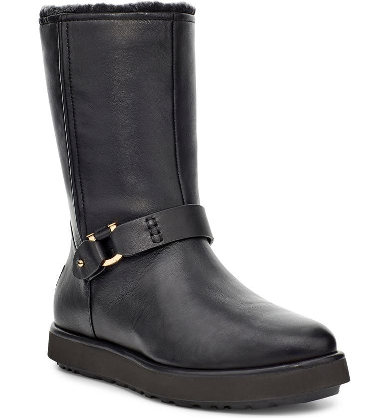 UGG<SUP>®</SUP> Classic Berge Water Resistant Short Boot, Main, color, 001
