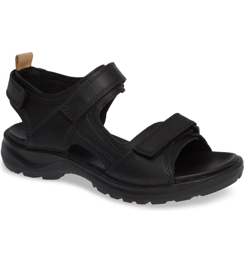 ECCO Premium Offroad Sandal, Main, color, BLACK NUBUCK LEATHER