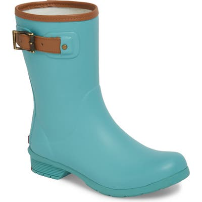 Chooka City Solid Mid Height Waterproof Rain Boot, Blue