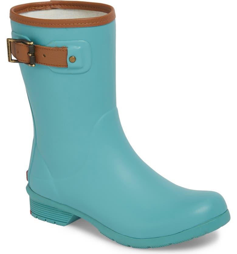 CHOOKA City Solid Mid Height Waterproof Rain Boot, Main, color, AQUA