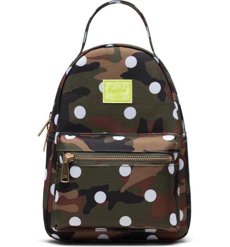 HERSCHEL SUPPLY CO. Mini Nova Backpack, Main, color, WOODLAND CAMO WHITE DOT