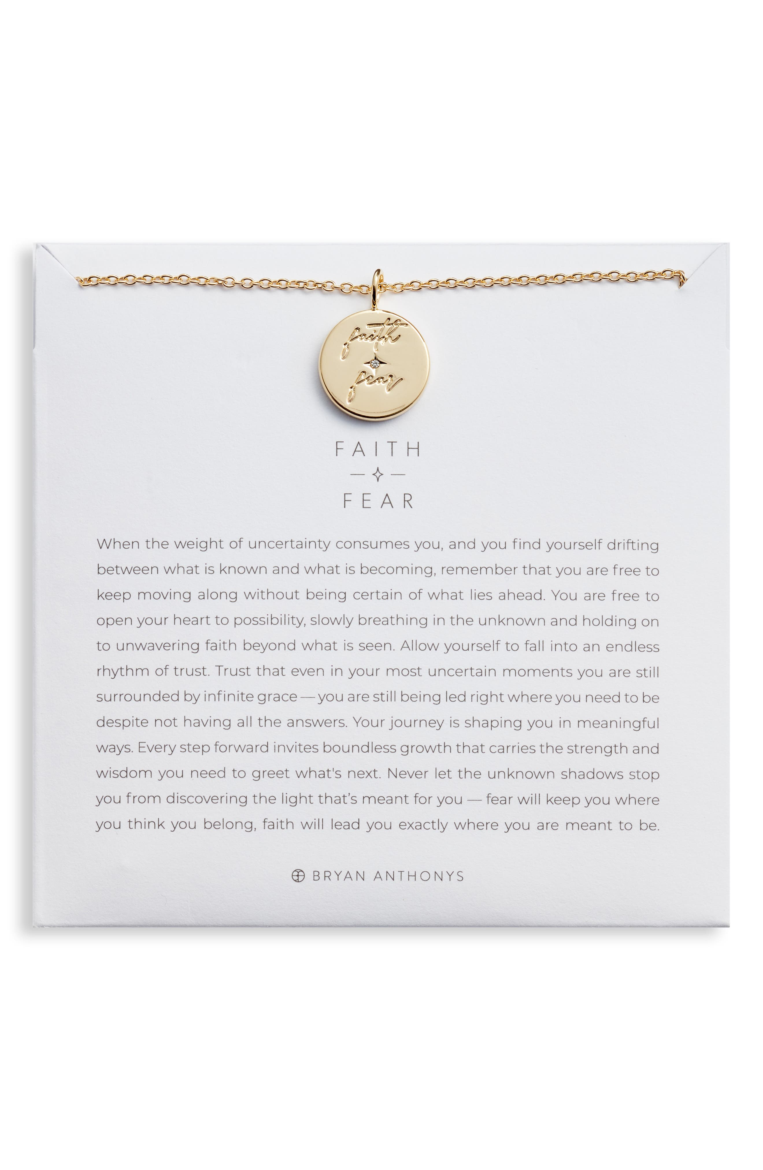 Women's Bryan Anthonys Faith Over Fear Pendant Necklace