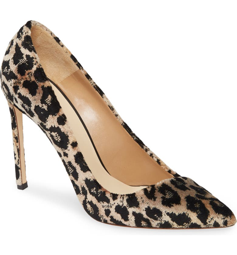 FRANCESCO RUSSO Asymmetrical Leopard Pump, Main, color, LEOPARD