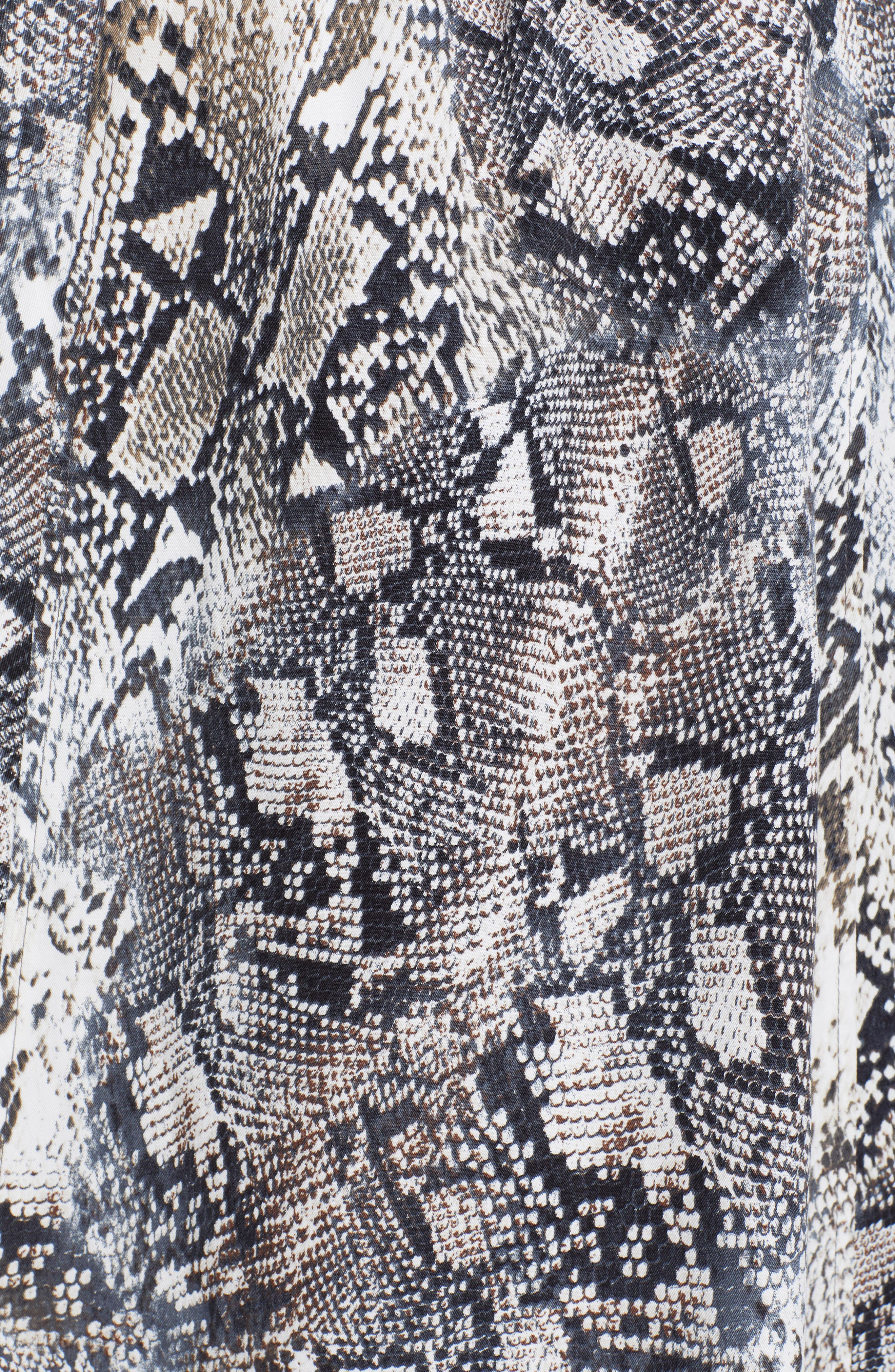 ,                             Snake Print Double Breasted Stretch Cotton Trench Coat,                             Alternate thumbnail 6, color,                             SNAKE