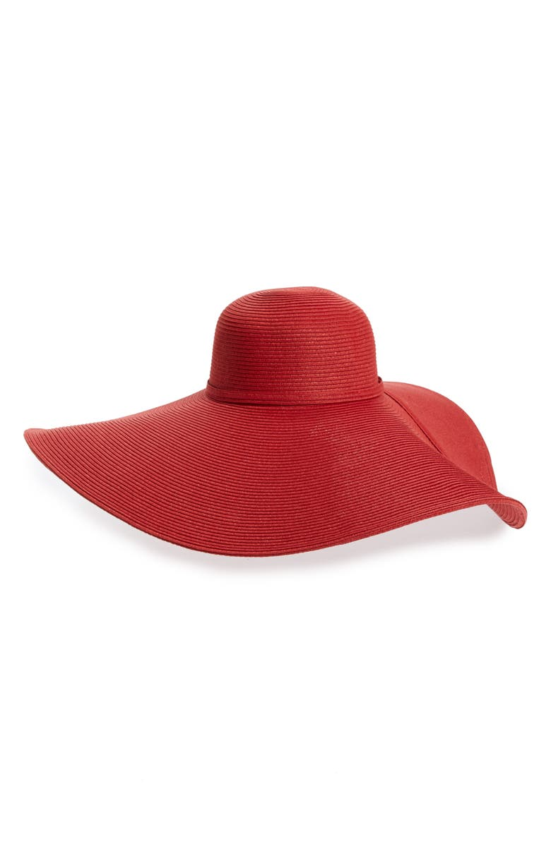 SAN DIEGO HAT Ultrabraid XL Brim Sun Hat, Main, color, RED