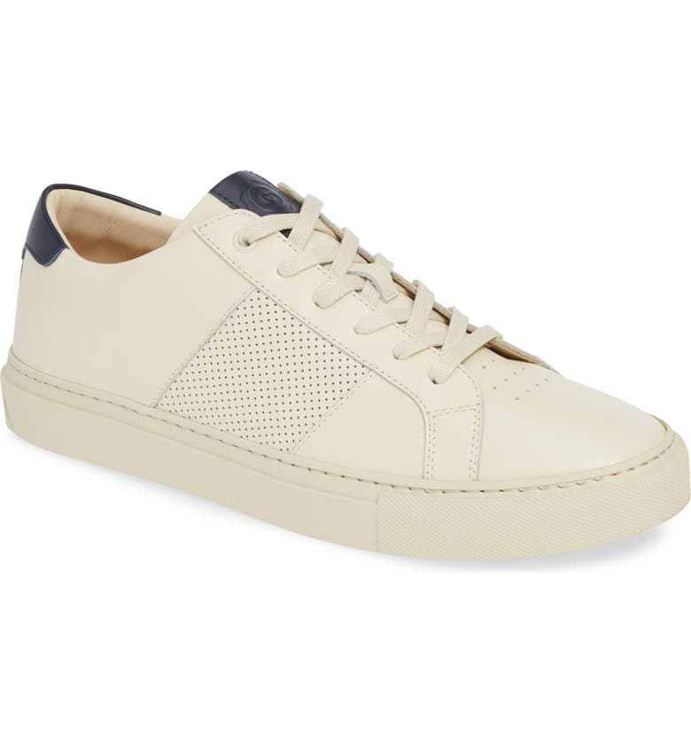 GREATS Royale Sneaker, Main, color, OFF WHITE/ NAVY LEATHER