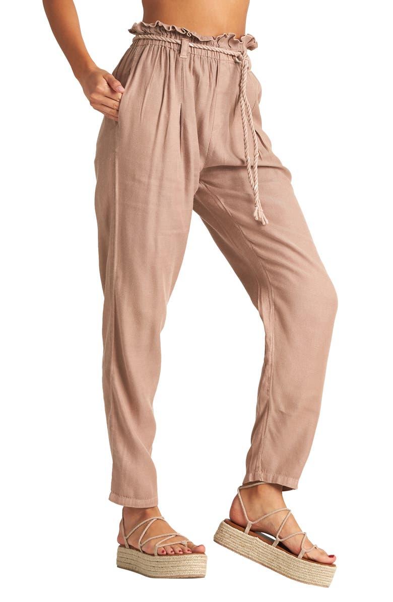 BILLABONG Desert Adventure Paperbag Waist Pants, Main, color, 200