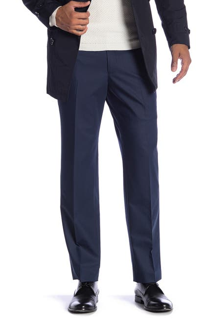 "Image of SAVILE ROW CO New Heathrow Modern Fit Bi-Stretch Pants - 30-34"" Inseam"