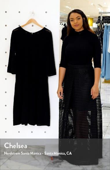 Jacquard Knit Fit & Flare Dress, sales video thumbnail