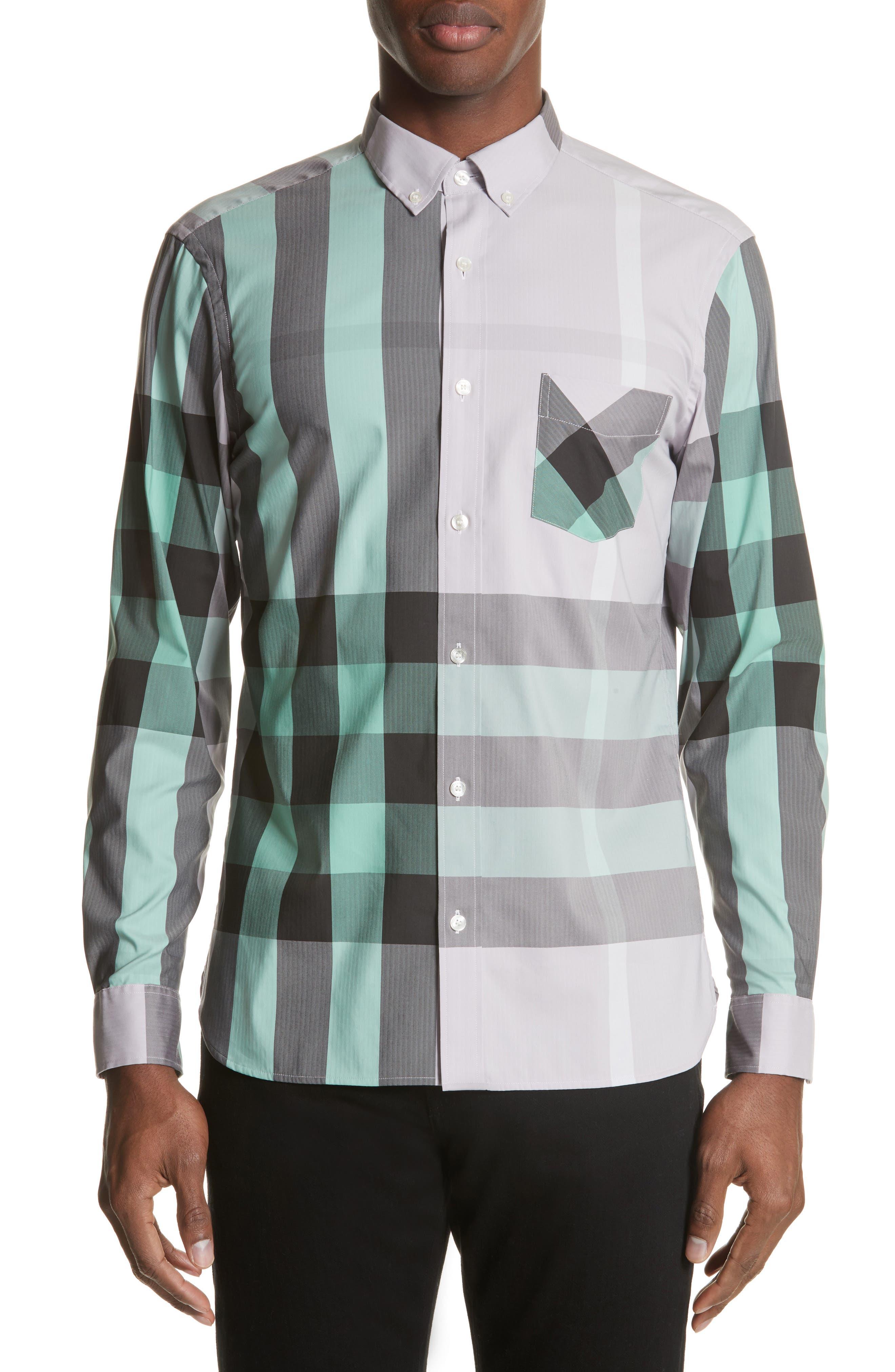 ,                             Thornaby Slim Fit Plaid Sport Shirt,                             Main thumbnail 39, color,                             510