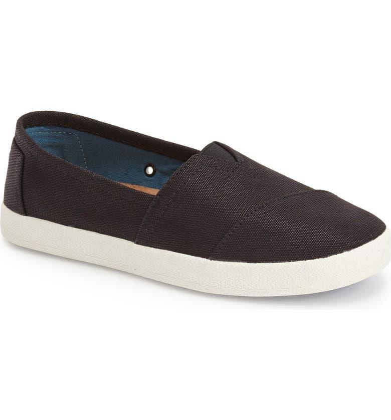 TOMS Avalon Slip-On, Main, color, BLACK