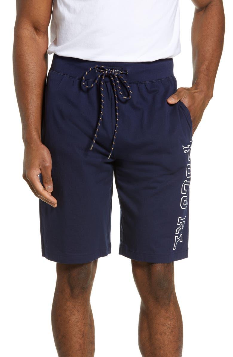 POLO RALPH LAUREN Logo Sleep Shorts, Main, color, CRUISE NAVY