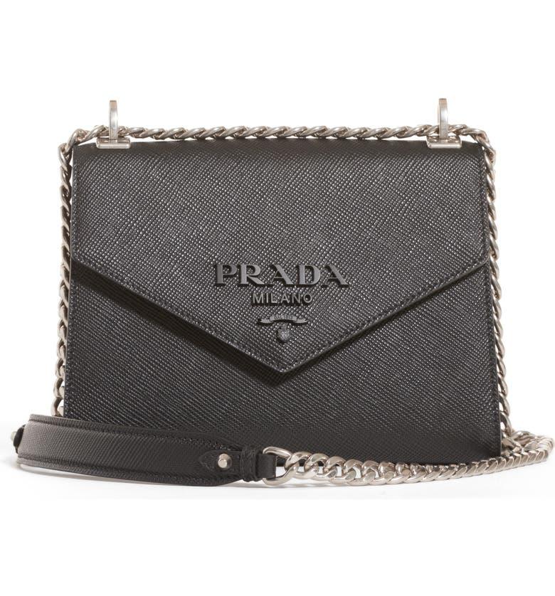 8452dee0 Monochrome Saffiano Leather Shoulder Bag
