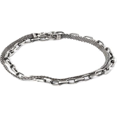 Title Of Work Micro Mesh & Cable Bracelet