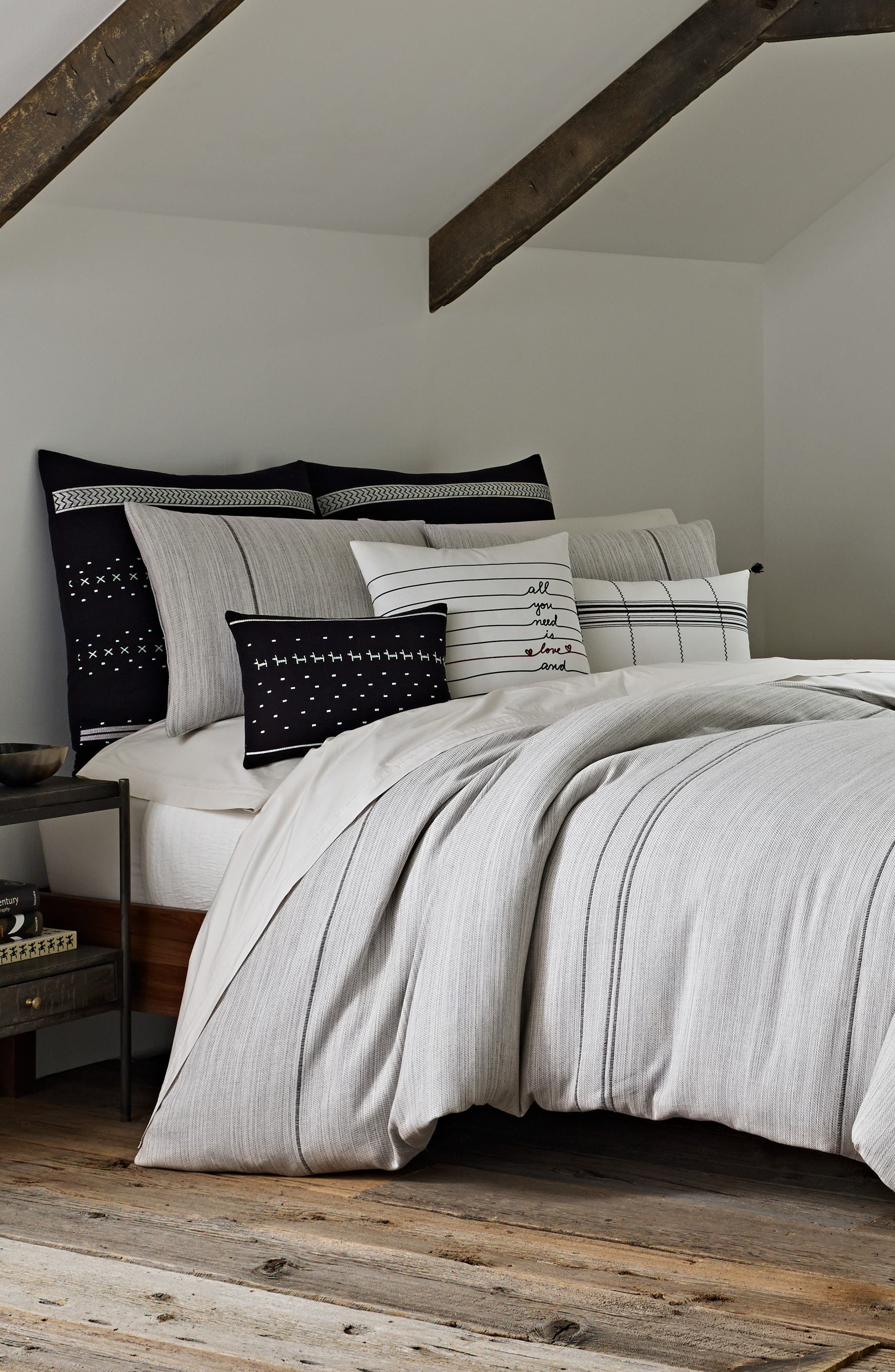 ,                             Alta Comforter & Sham Set,                             Main thumbnail 1, color,                             GREY