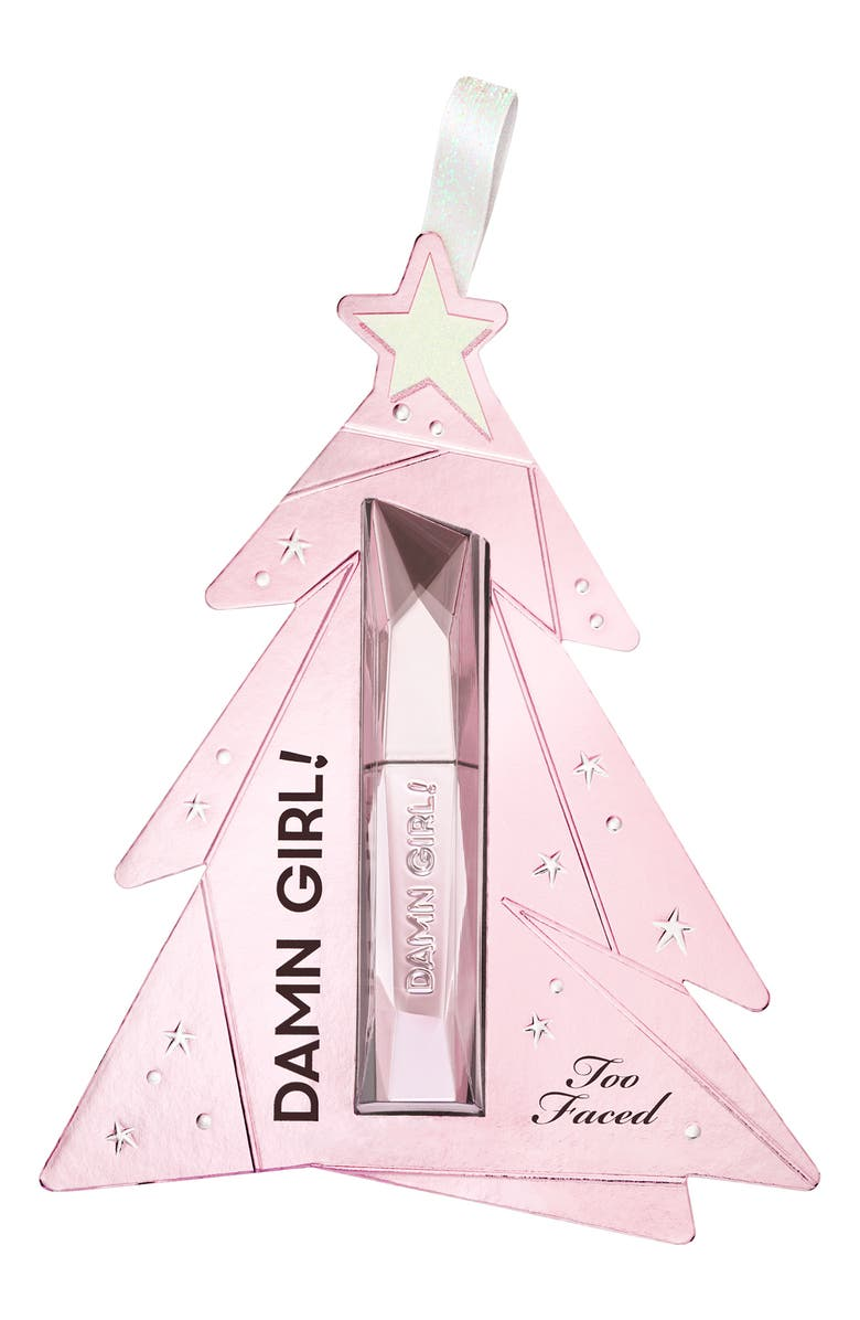 TOO FACED Deluxe Size Damn Girl! Mascara Ornament, Main, color, NO COLOR