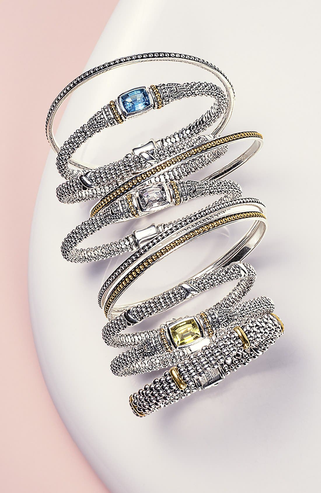 ,                             'Caviar Color' Semiprecious Stone Bracelet,                             Alternate thumbnail 6, color,                             BLACK ONYX