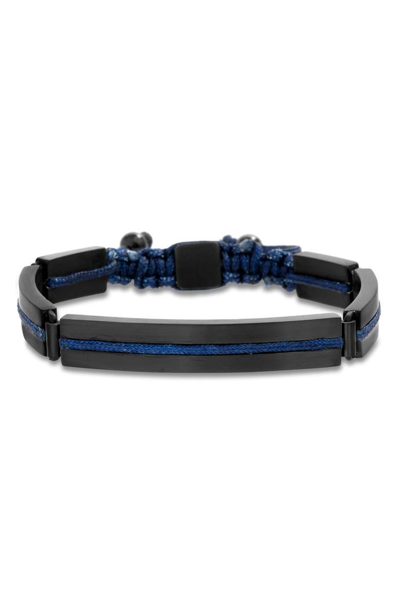 BEN SHERMAN Steel Cord Adjustable Bracelet, Main, color, 400