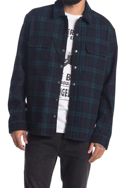 Image of Zadig & Voltaire Tacklo Check Print Overshirt Jacket