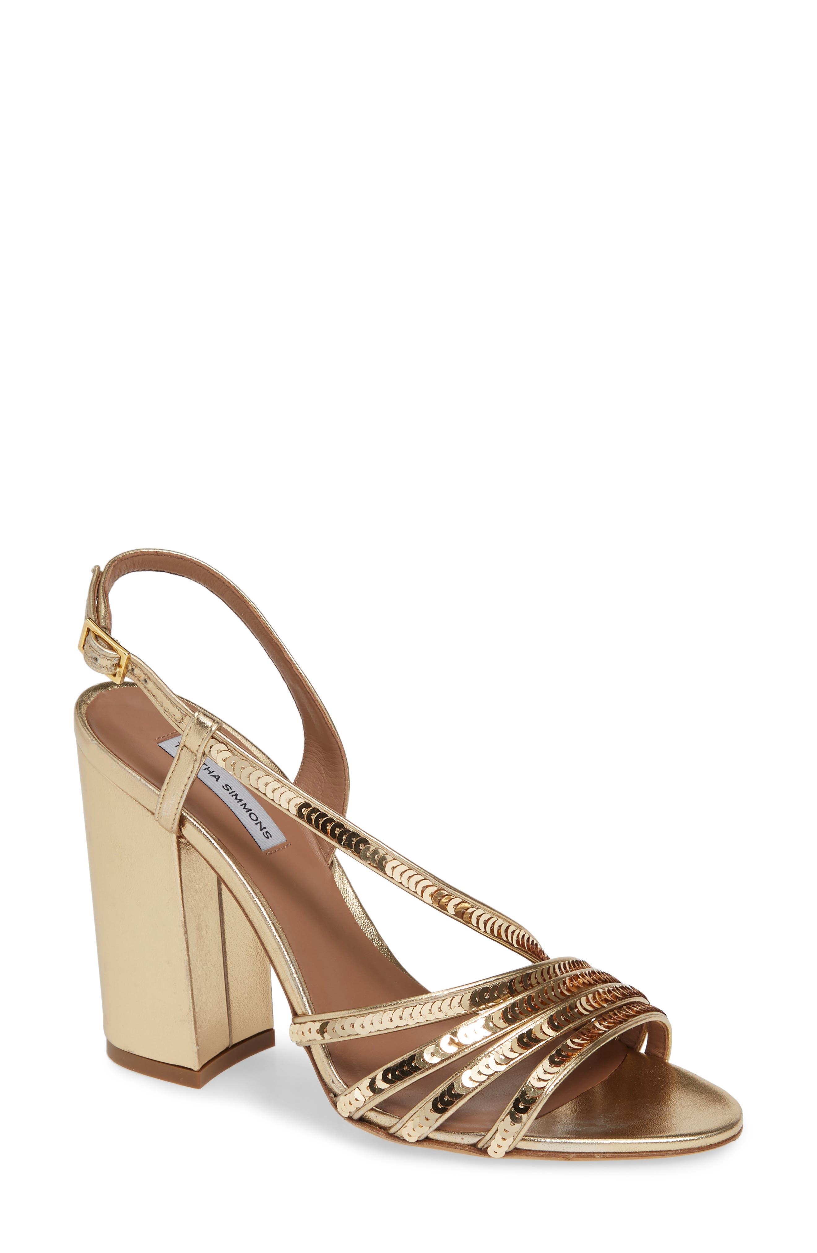 Tabitha Simmons Viola Sequin Embellished Sandal, Metallic