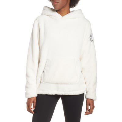 Soul By Soulcycle Reversible Faux Shearling Hoodie, White