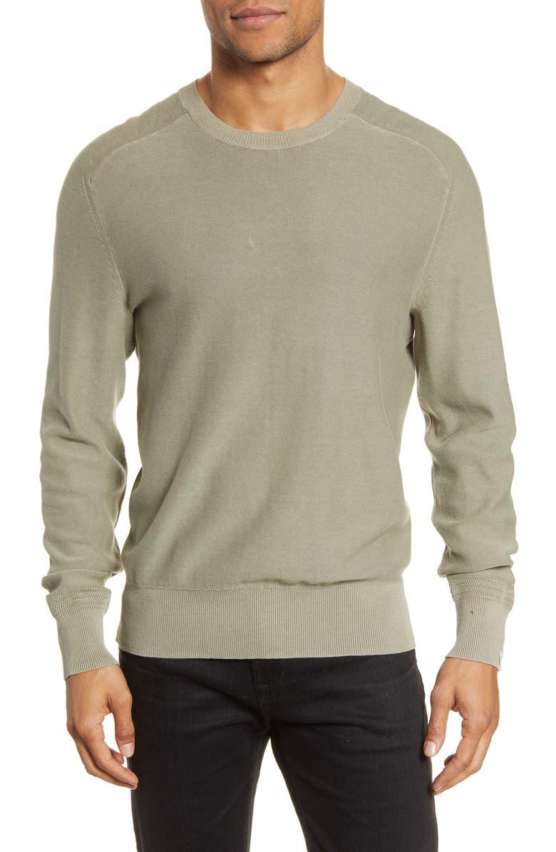 RAG & BONE Lance Slim Fit Crewneck Sweater, Main, color, LAUREL OAK