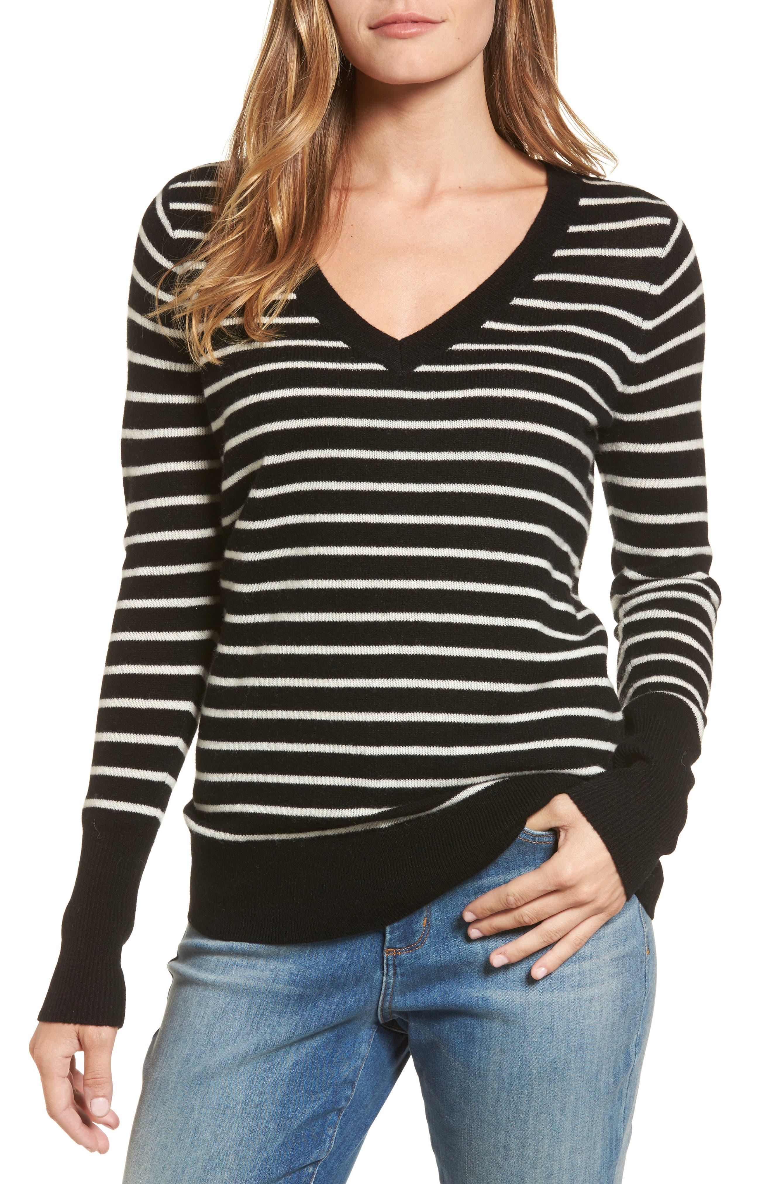 ,                             V-Neck Cashmere Sweater,                             Main thumbnail 7, color,                             003