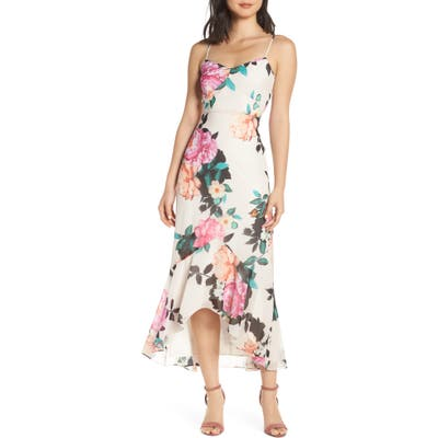 Chelsea28 Floral High/low Dress, Ivory
