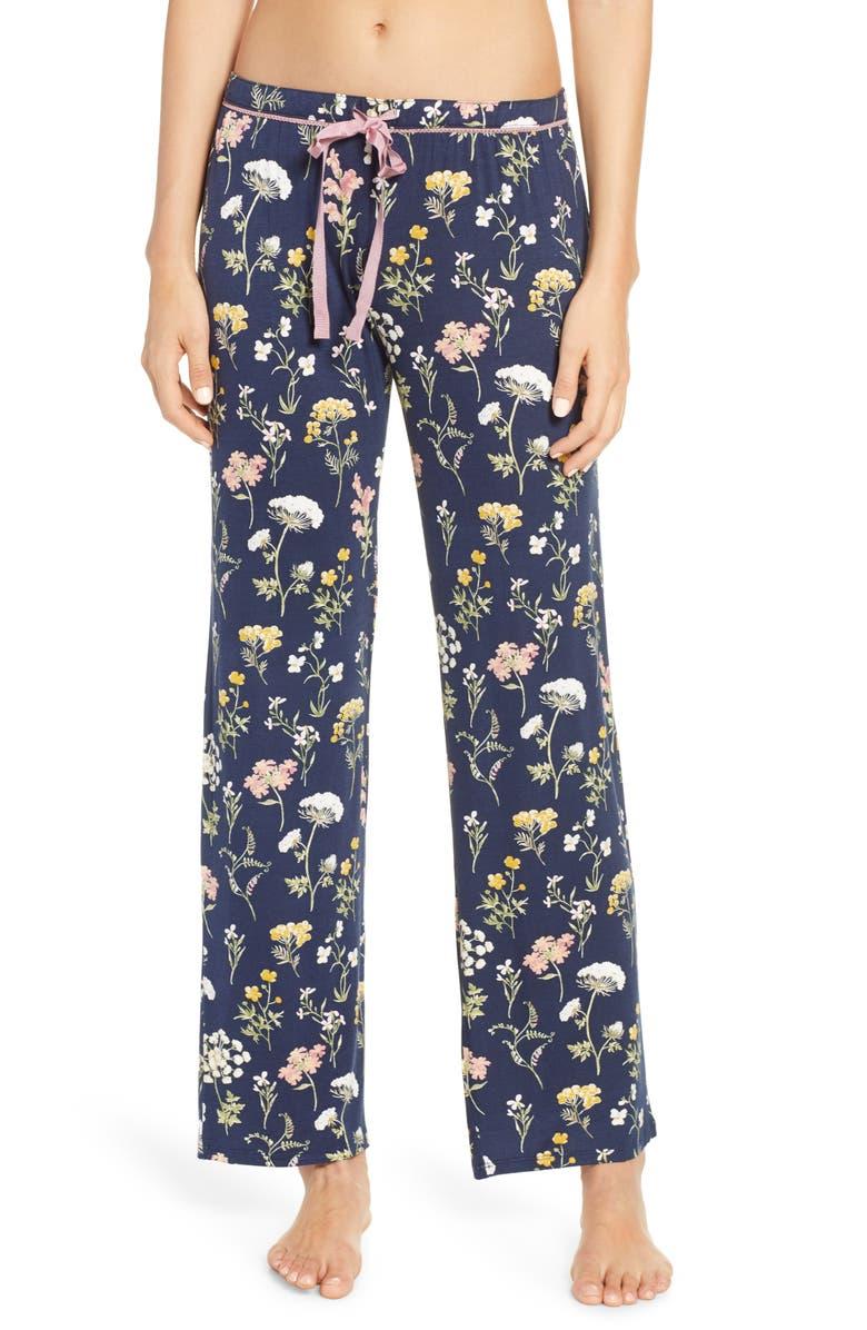 PJ SALVAGE Dreams Bloom Jersey Pants, Main, color, 402