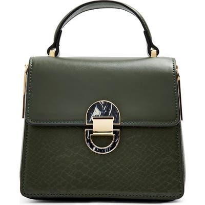 Topshop Mini Celia Faux Leather Crossbody Bag - Green