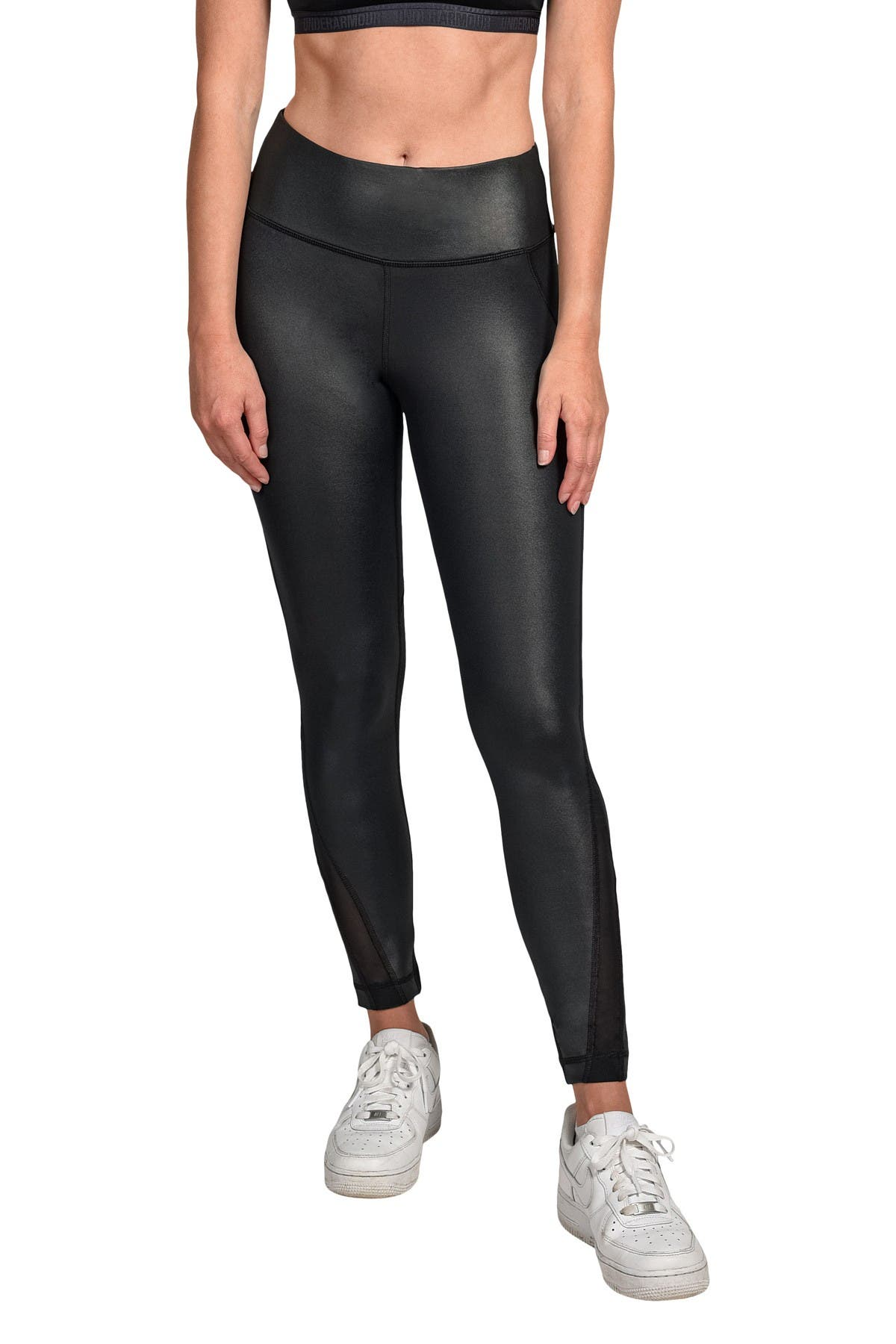 Image of 90 Degree By Reflex Cire Mesh Insert Leggings