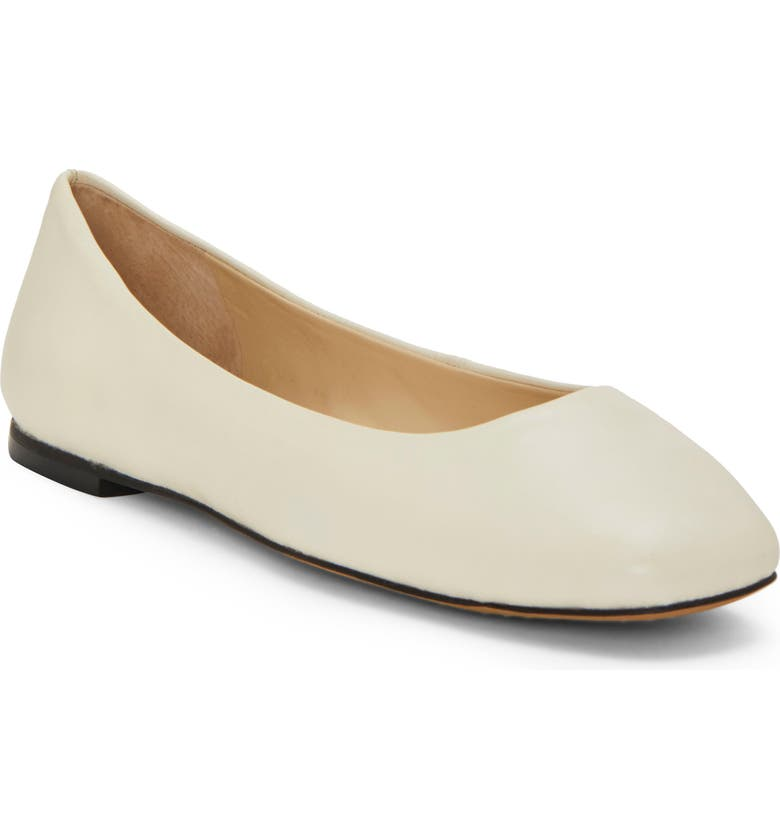 VINCE CAMUTO Bicanna Flat, Main, color, WARM WHITE LEATHER
