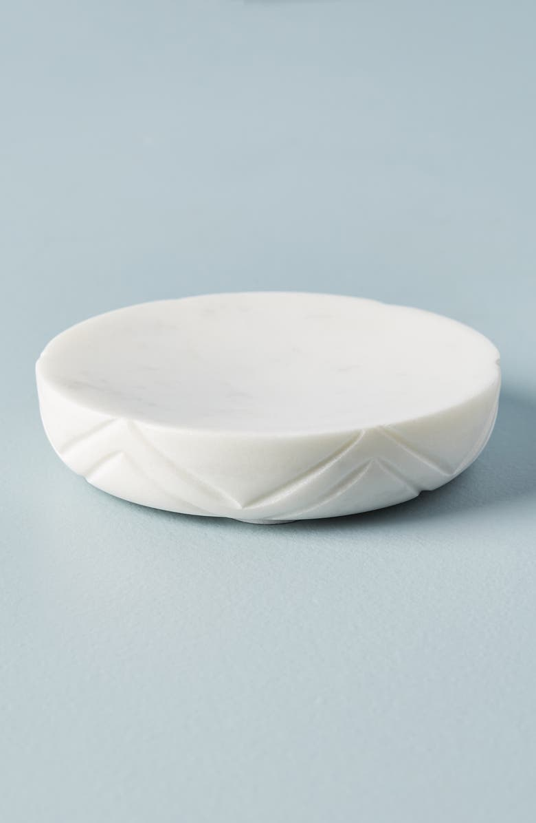 ANTHROPOLOGIE Jax Marble Soap Dish, Main, color, 100