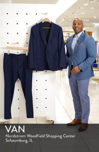 Genesis Flat Front Slim Fit Solid Wool Dress Pants, sales video thumbnail