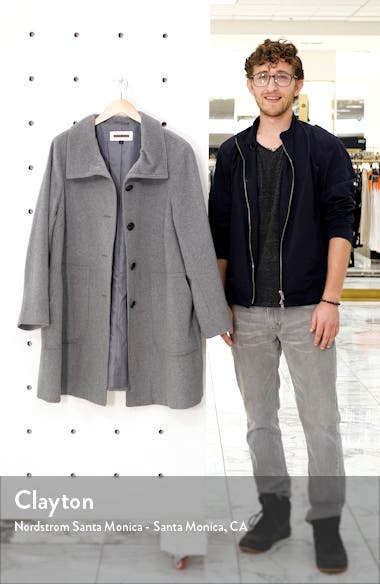 Stand Collar Patch Pocket Coat, sales video thumbnail