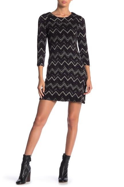 Image of Papillon Chevron Sweater Dress