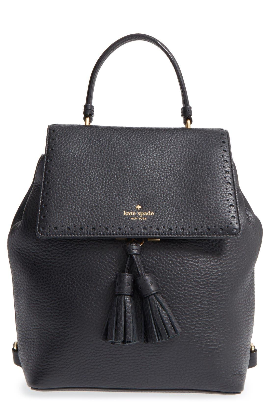 ,                             'james street - teba' leather backpack,                             Main thumbnail 1, color,                             001