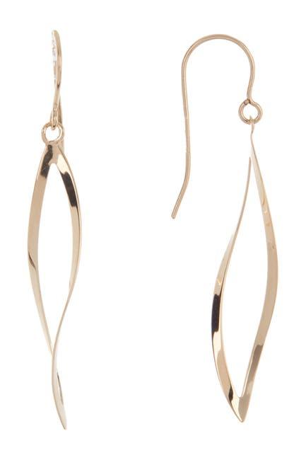 Image of Candela 14K Yellow Gold Open Oval Dangle Earrings