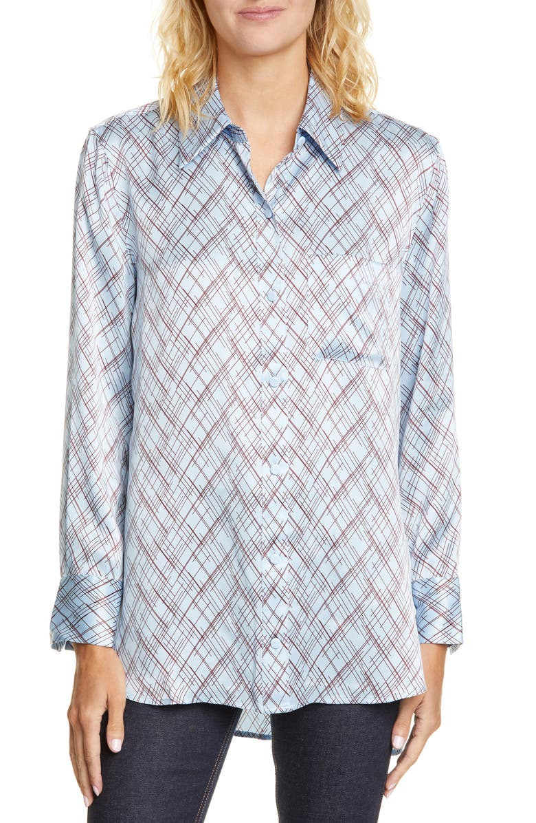 EQUIPMENT Bradner Print Silk Shirt, Main, color, 400