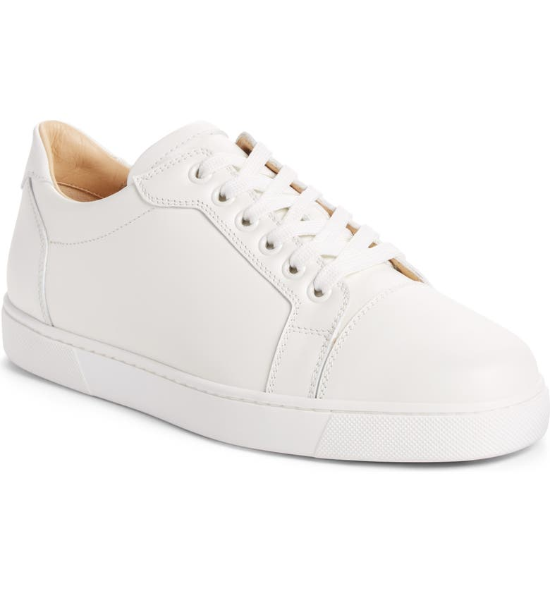 CHRISTIAN LOUBOUTIN Vieira Lace-Up Sneaker, Main, color, LATTE WHITE