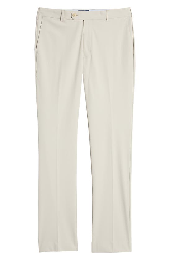 Peter Millar Stealth Tailored Fit Water Resistant Performance Pants In Oatmeal