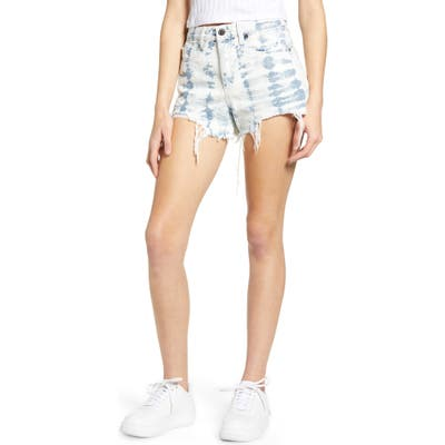 Blanknyc The Barrow Tie Dye Denim Shorts, Blue