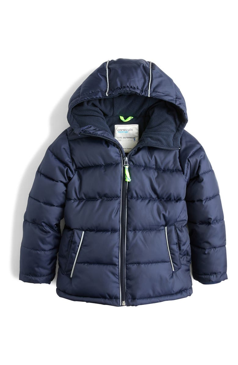 CREWCUTS BY J.CREW PrimaLoft<sup>®</sup> Puffer Jacket, Main, color, NAVY