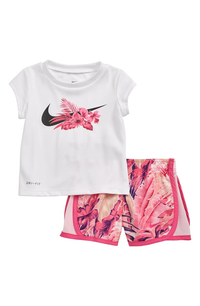 NIKE Dry Wonderland Graphic T-Shirt & Shorts Set, Main, color, 524