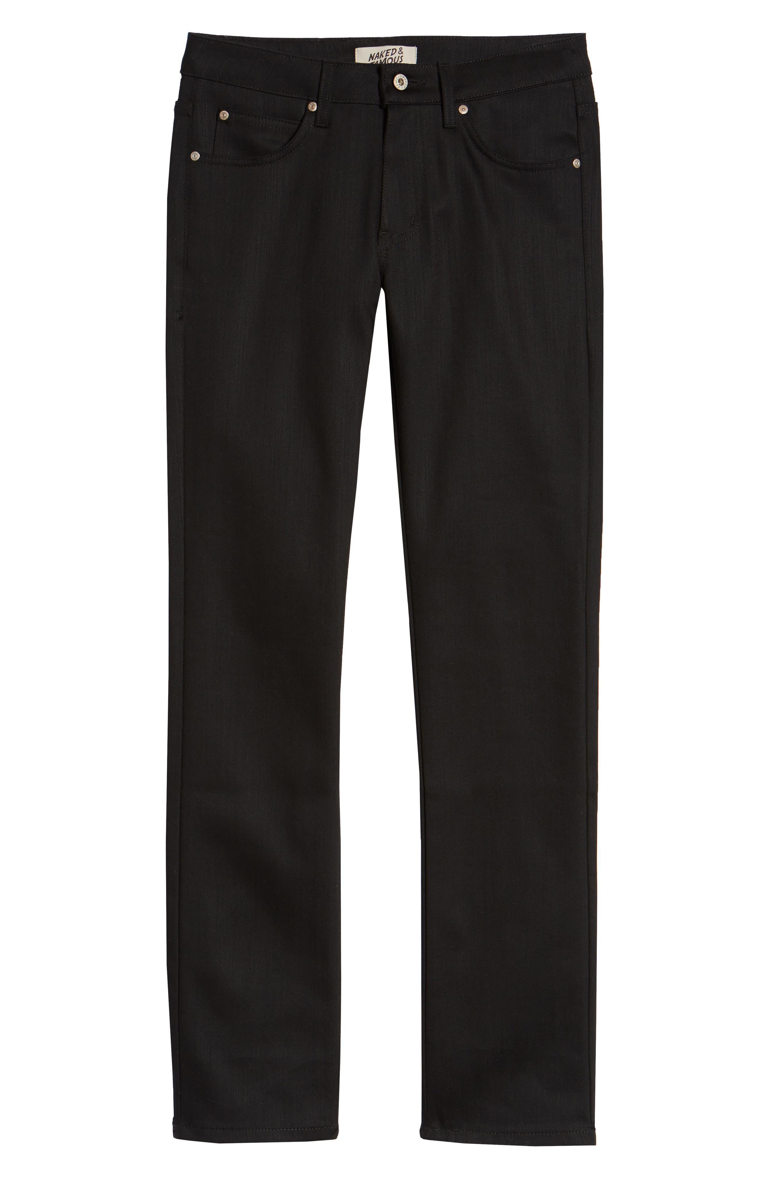 ,                             Skinny Guy Skinny Fit Jeans,                             Alternate thumbnail 4, color,                             BLACK POWER STRETCH