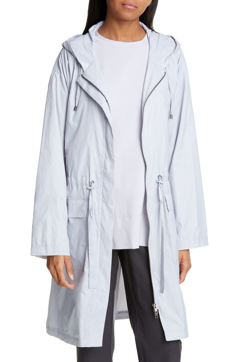 EILEEN FISHER Hooded Recycled Nylon Jacket, Main, color, INDIA SKY